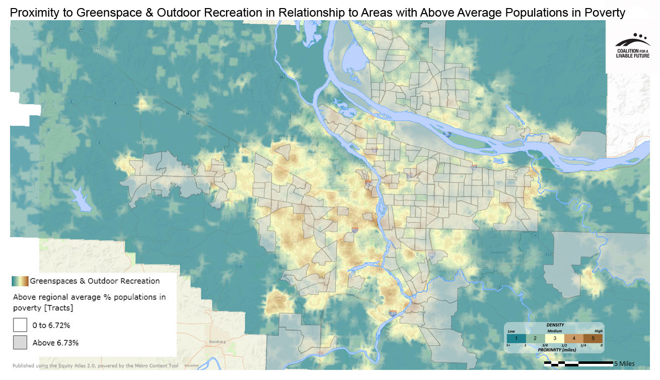 Proximity to Greenspace & Outdoor Recreation in Relationship to Areas with Above Regional Average Percent Populations in Poverty