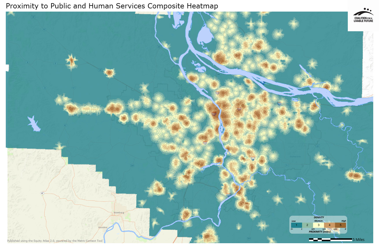 Proximity to Public and Human Services Composite Heatmap
