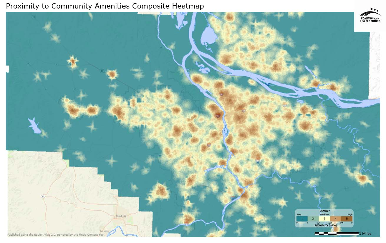 Proximity to Community Amenities Composite Heatmap