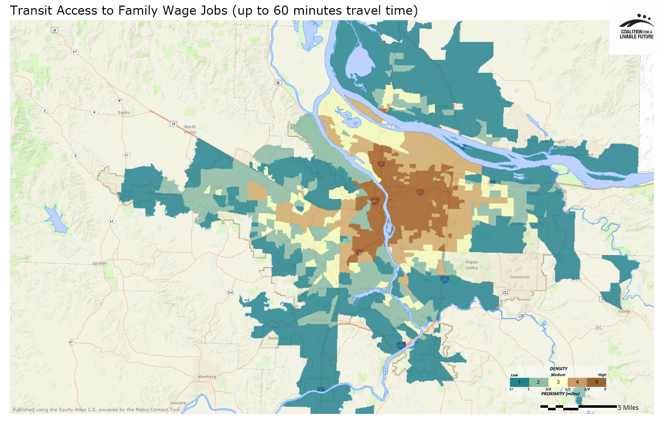 Transit Access to Family Wage Jobs (60 Minutes Travel Time)