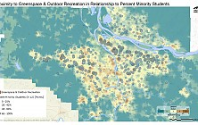 Proximity to Greenspace & Outdoor Recreation in Relationship to Percent Minority Students by School