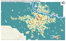 Proximity to Social & Cultural Institutions Composite Heatmap
